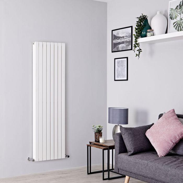 Milano Capri - White Flat Panel Vertical Designer Radiator - 1600mm x 472mm (Double Panel)