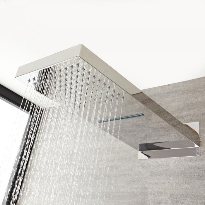 Milano - Fixed Shower Head With Waterblade - Chrome