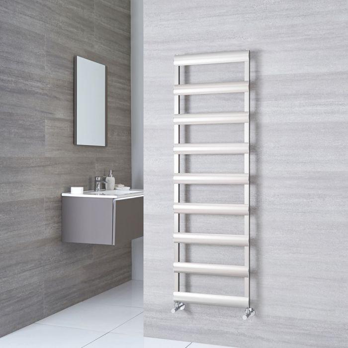 Milano Passo - Aluminium Brushed Chrome Heated Towel Rail - 1590mm x 500mm