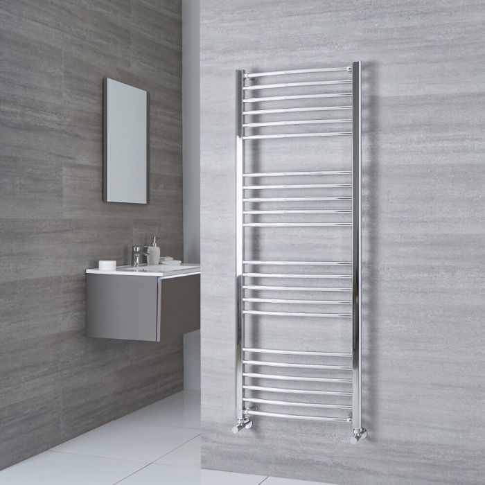 Milano Eco - Chrome Curved Heated Towel Rail - 1600mm x 500mm