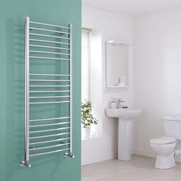 Milano Eco - Chrome Curved Heated Towel Rail - 1400mm x 600mm