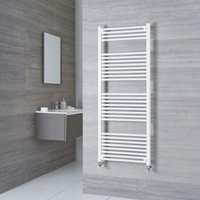 Milano Calder - White Flat Heated Towel Rail - 1500mm x 600mm