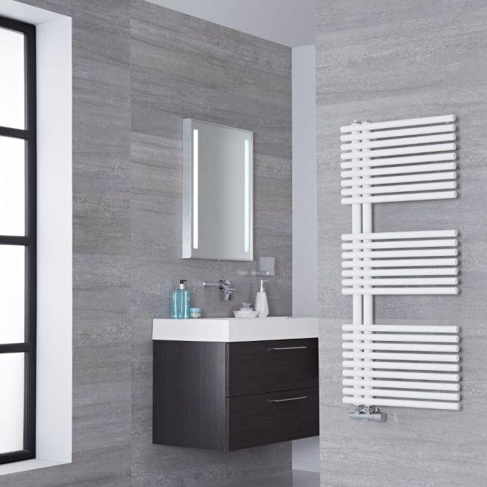 Lazzarini Way Bari - Mineral White Designer Heated Towel Rail - 1120mm x 500mm