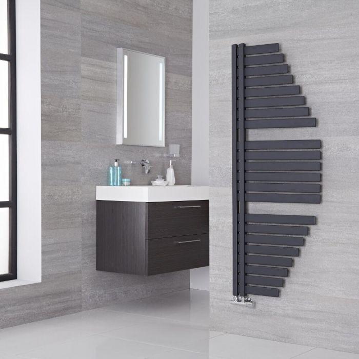 Lazzarini Way Spinnaker - Anthracite Designer Heated Towel Rail - 1460mm x 547mm