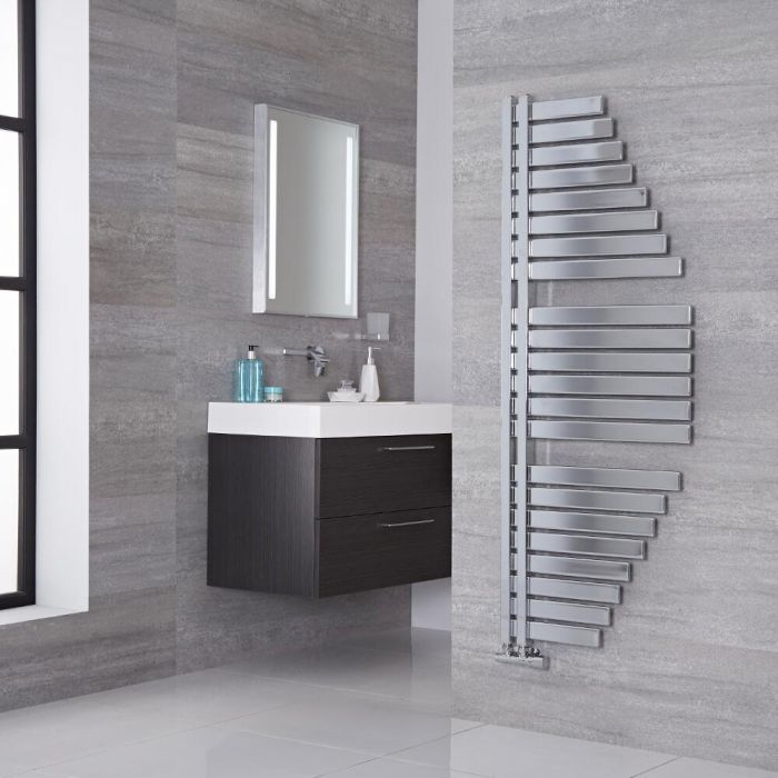 Lazzarini Way Spinnaker - Chrome Designer Heated Towel Rail - 1460mm x 547mm