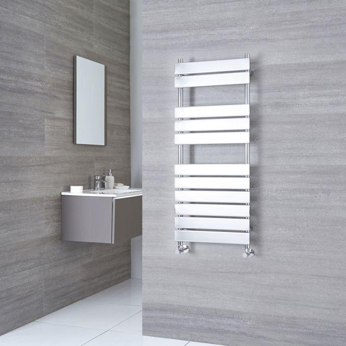 Kudox Signelle - Chrome Plated Flat Panel Designer Heated Towel Rail - 1500mm x 500mm