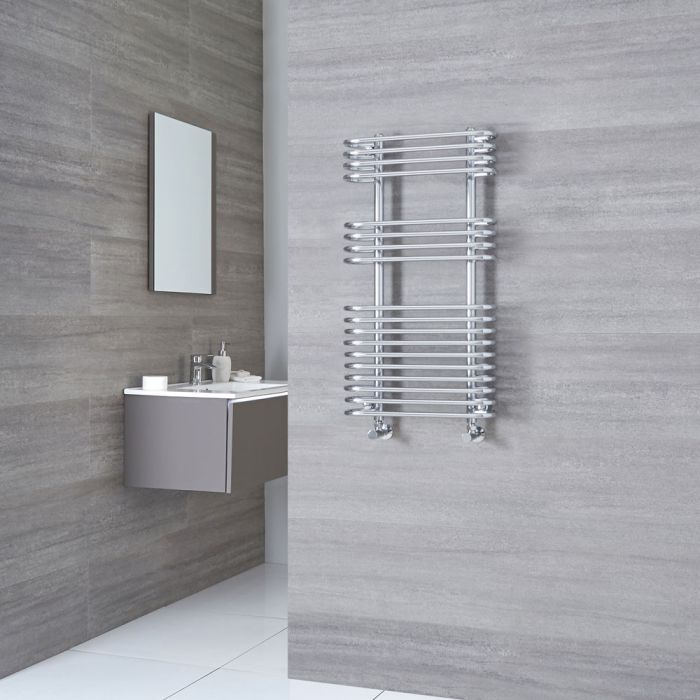 Kudox Voco - Chrome Designer Heated Towel Rail - 900mm x 500mm