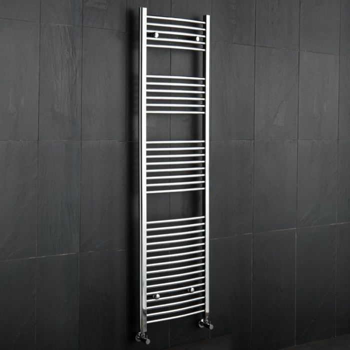 Kudox - Premium Chrome Curved Heated Towel Rail - 1800mm x 500mm