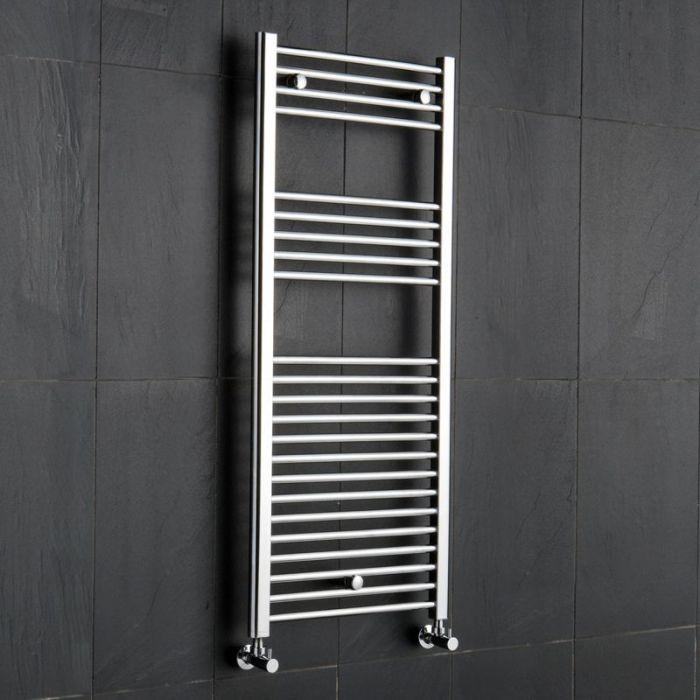 Kudox Ladder - Premium Chrome Flat Heated Towel Rail - 1200mm x 500mm