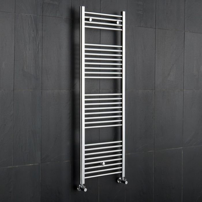Kudox - Premium Chrome Flat Heated Towel Rail - 1500mm x 500mm