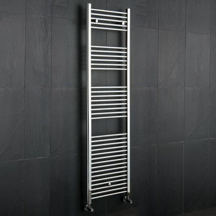 Kudox Ladder - Premium Chrome Flat Heated Towel Rail - 1800mm x 500mm