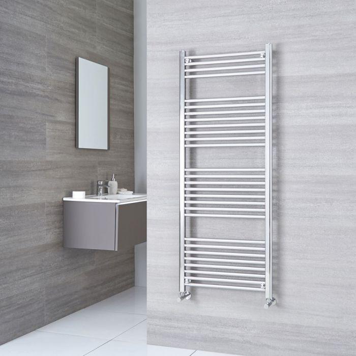 Kudox Ladder - Premium Chrome Flat Heated Towel Rail - 1500mm x 600mm