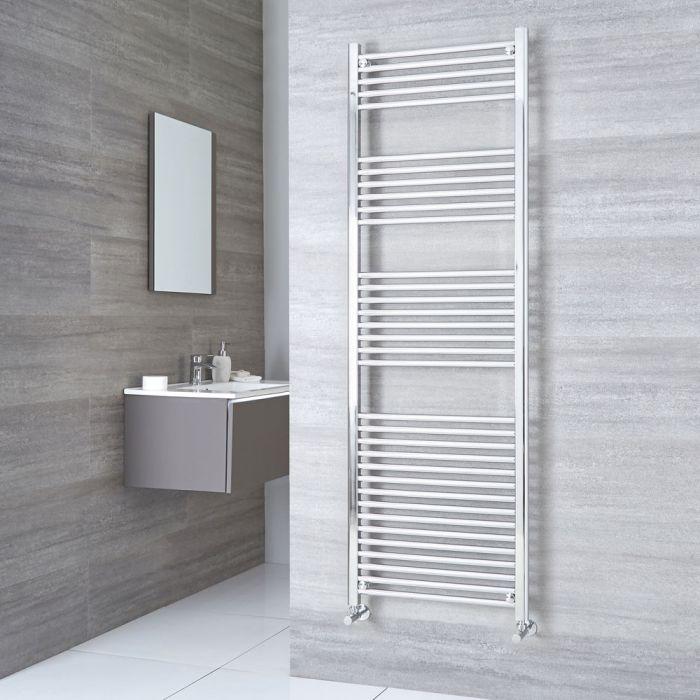 Kudox Ladder - Premium Chrome Flat Heated Towel Rail - 1800mm x 600mm