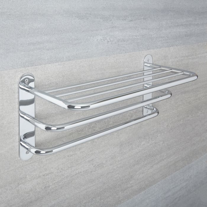 Milano Mirage - Traditional 3 Tier Towel Rack - Chrome