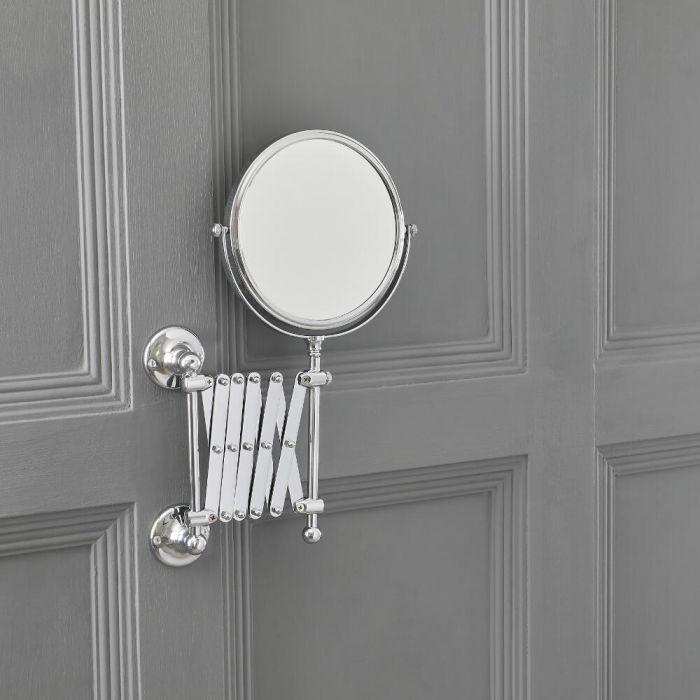 Milano Elizabeth - Traditional Round Extendable Shaving Mirror