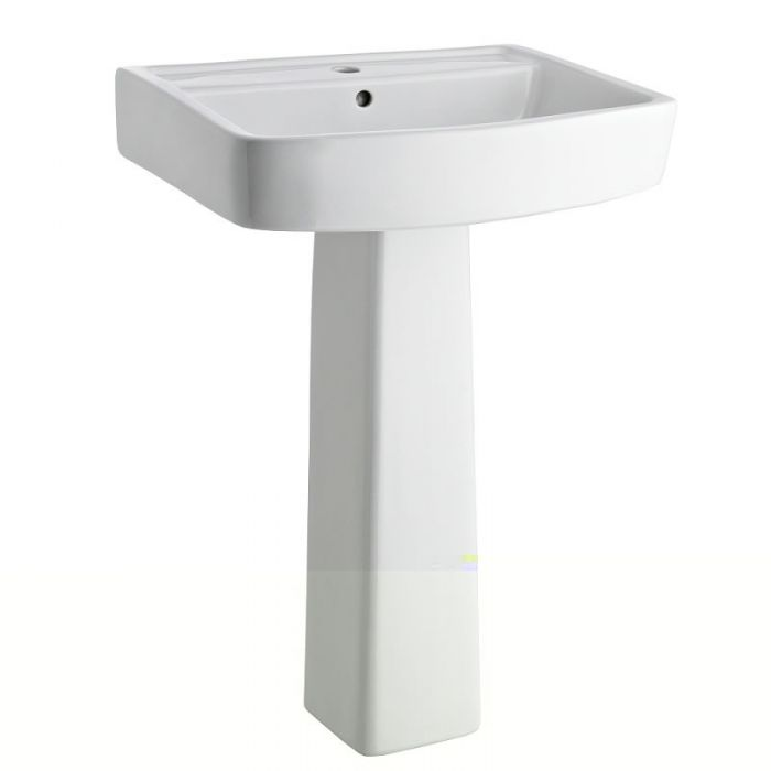 Milano Farington 520mm Basin Sink and Pedestal