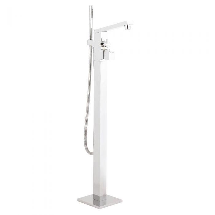 Hudson Reed Kubix Freestanding Thermostatic Bath Shower Mixer Tap