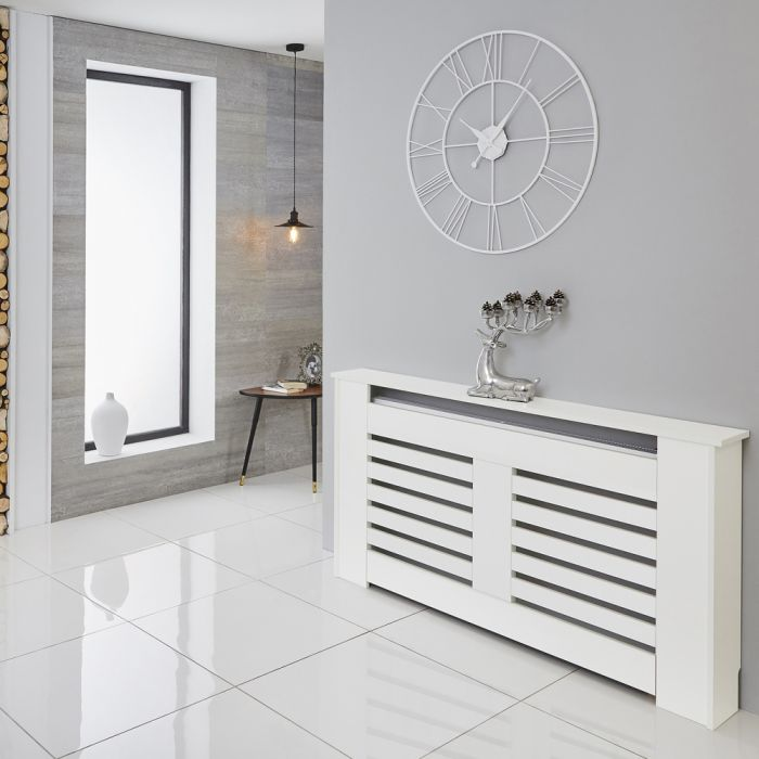 Milano Elstree - White Radiator Cabinet - 820mm x 1520mm