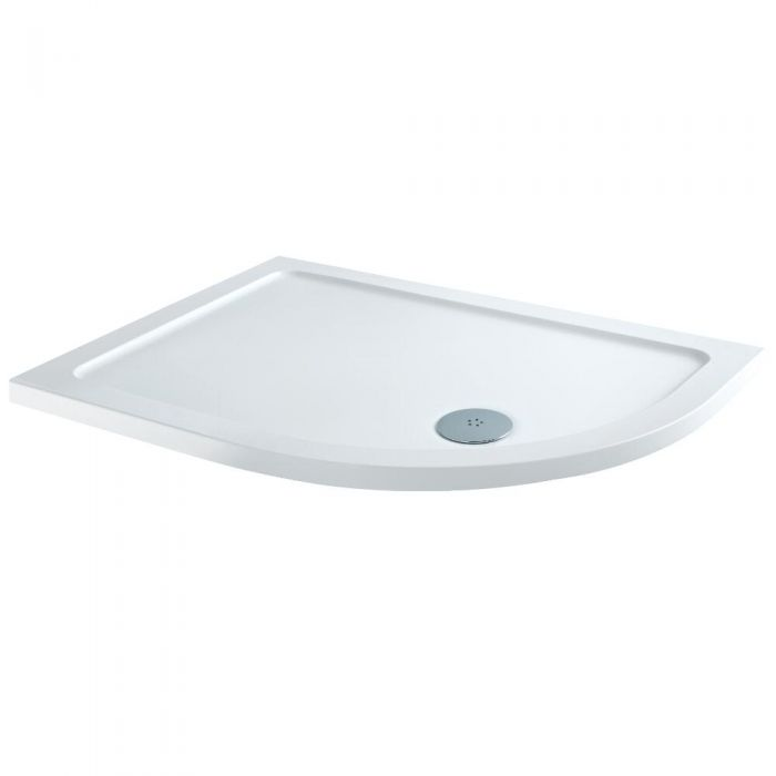 Milano - Right Handed Low Profile Offset Quadrant Shower Tray - 1200mm x 800mm