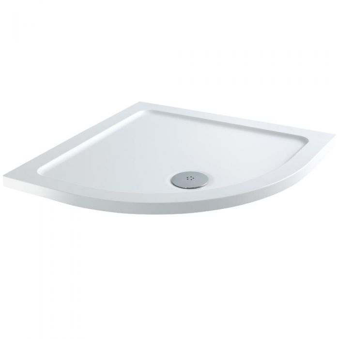 Milano - Low Profile Quadrant Shower Tray - 1000mm x 1000mm