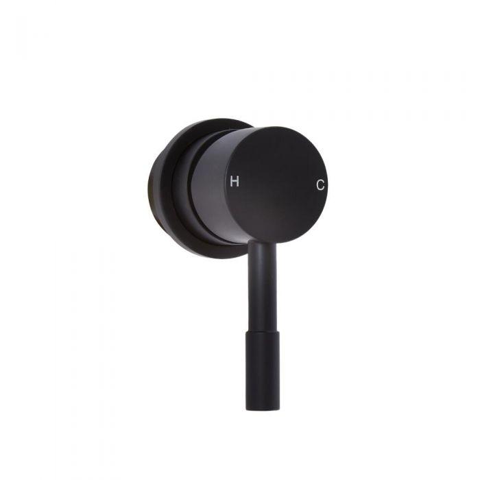 Milano Nero - Manual Shower Valve - One Outlet - Black