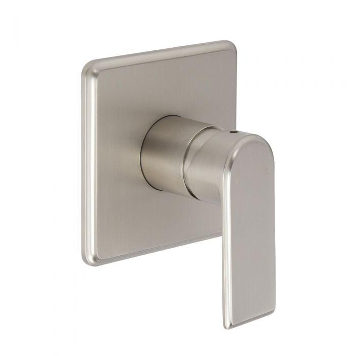 Milano Ashurst - Modern Manual Shower Valve - One Outlet - Brushed Nickel