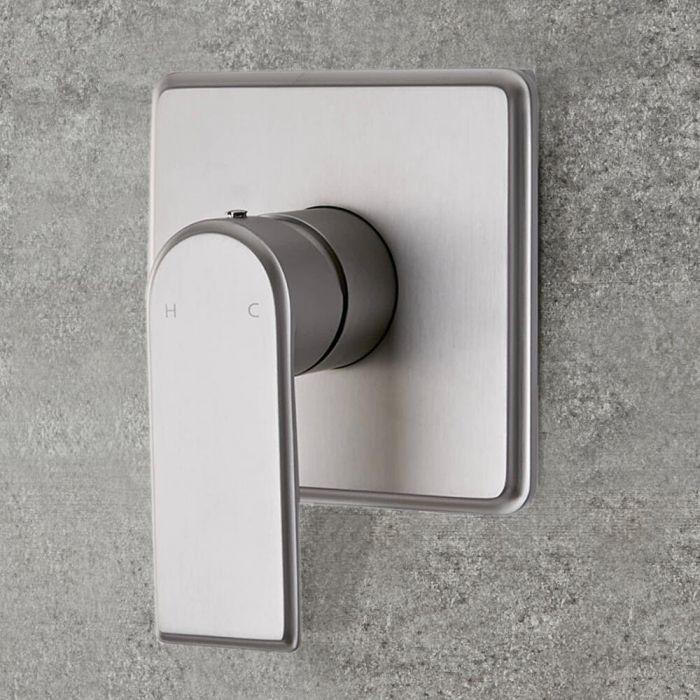 Milano Ashurst - Modern 1 Outlet Manual Shower Valve - Brushed Nickel