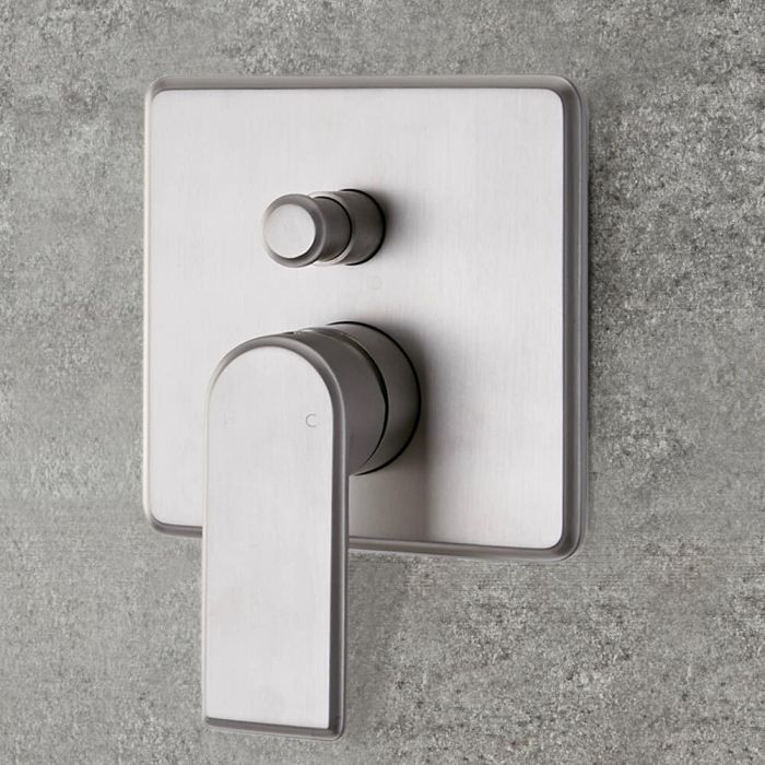 Milano Ashurst - Modern 2 Outlet Manual Shower Valve - Brushed Nickel