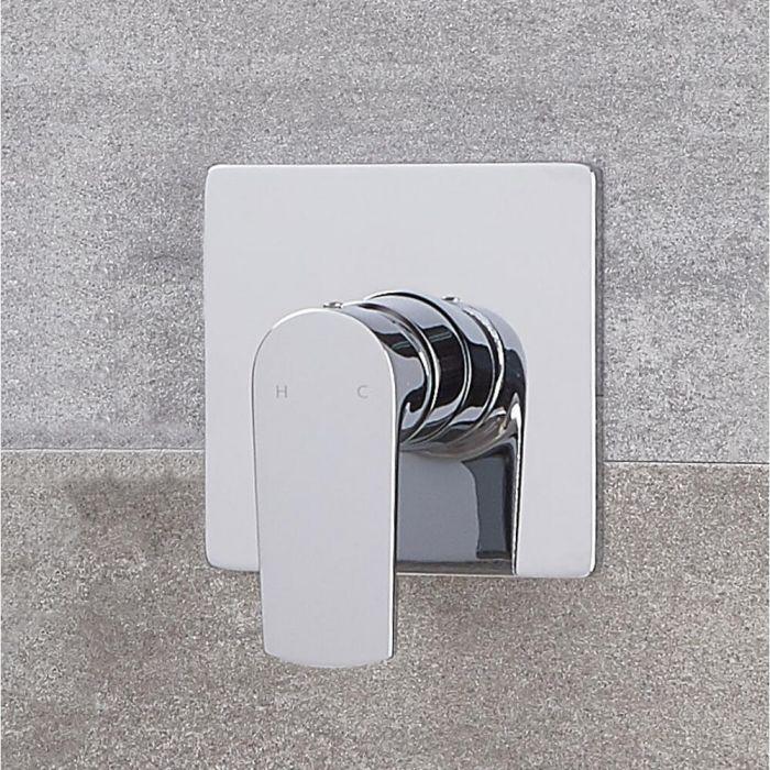 Milano Ashurst - Modern Manual Shower Valve - One Outlet - Chrome
