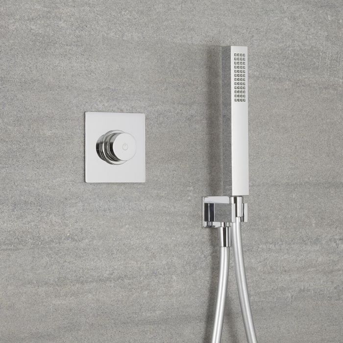 Milano Vis - One Outlet Digital Thermostatic Shower with Square Hand Shower