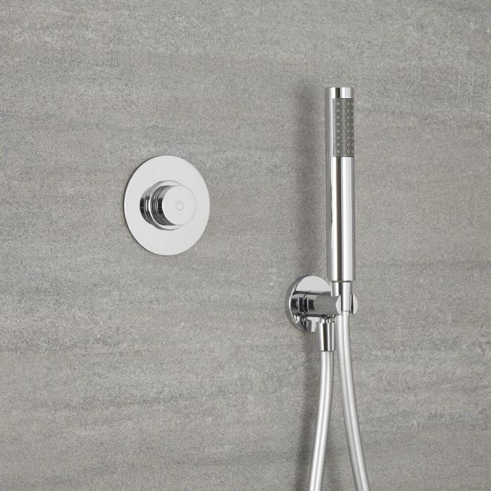 Milano Vis - One Outlet Digital Thermostatic Shower with Round Hand shower
