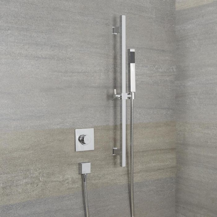 Milano Vis One Outlet Digital Thermostatic Shower and Kubix Slide Rail Kit