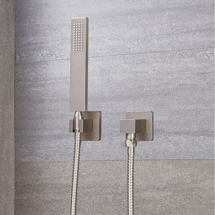 Milano Square Hand Shower - Brushed Nickel