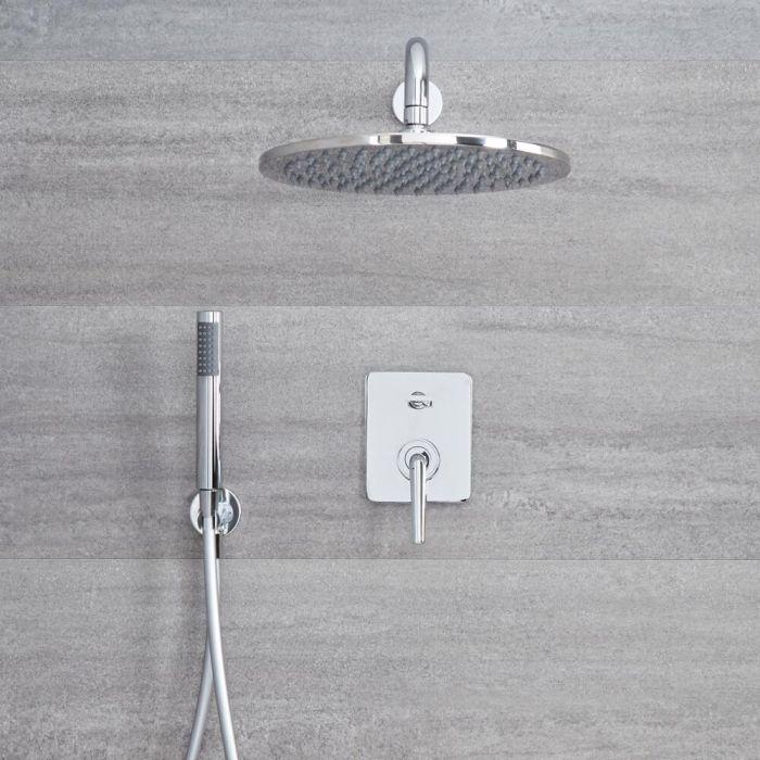 Milano Vora - Manual Diverter Shower Valve with 300mm Round Head and Handset - Chrome