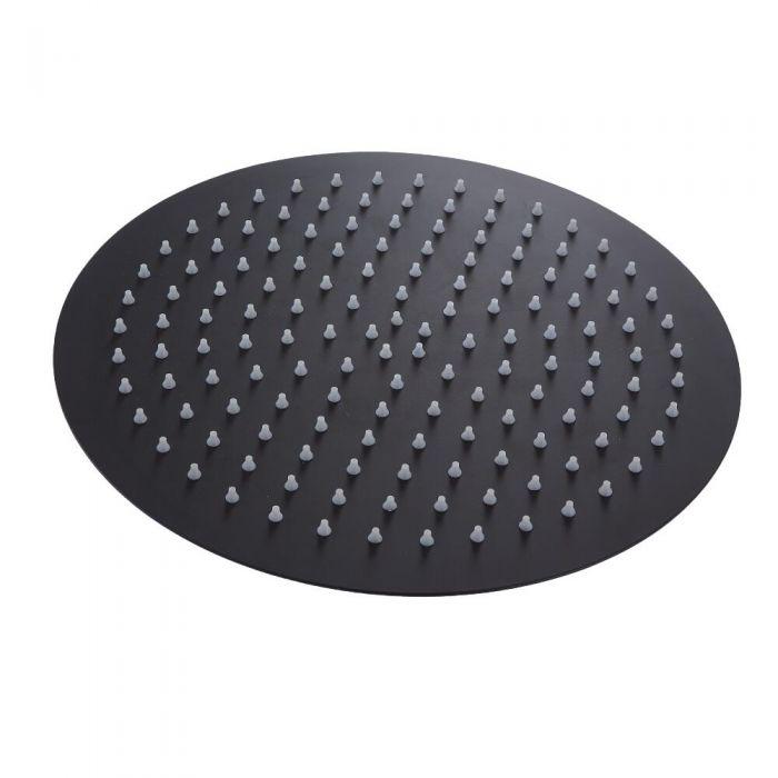 Milano Nero - 300mm Round Shower Head - Black