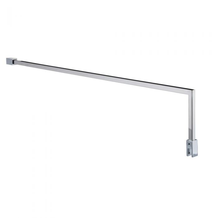 Milano Portland - Square L Fixed 1000mm Wet Room Screen Support Arm - Chrome