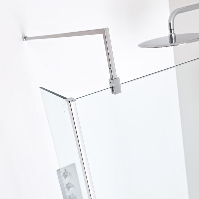 Milano Portland Square L Fixed 1000mm Wet Room Screen Support Arm