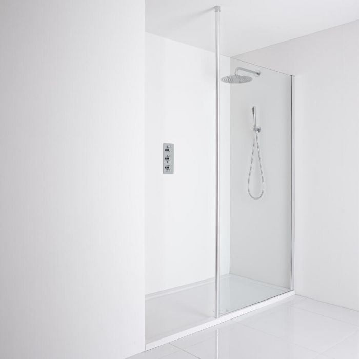 Milano Alto - Floor to Ceiling Wet Room Support Post - Chrome