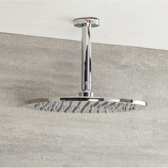 Milano - 200mm Round Shower Head and Ceiling Arm (150mm)