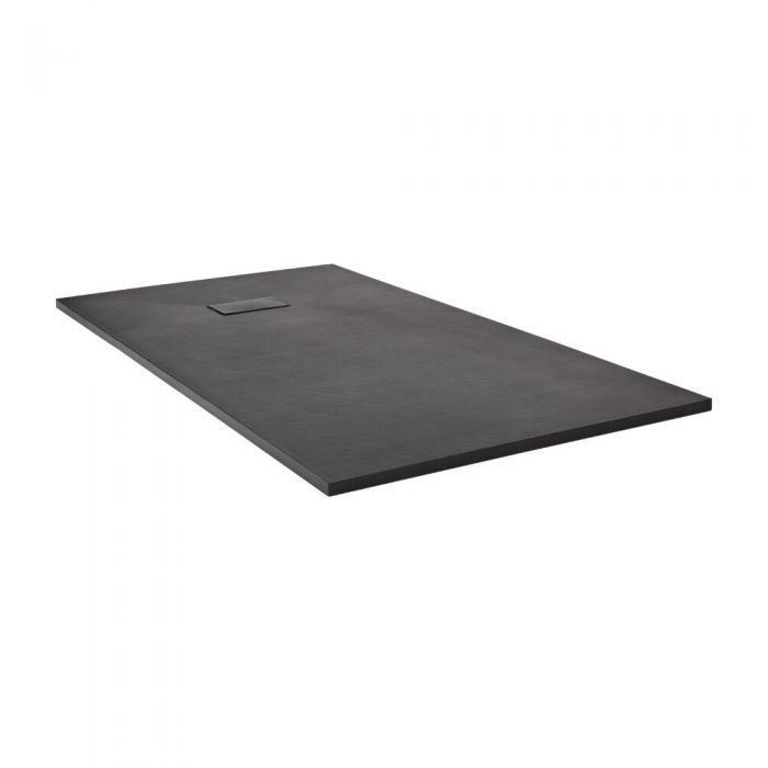 Milano Slate Effect Rectangular Shower Tray 1400x900mm