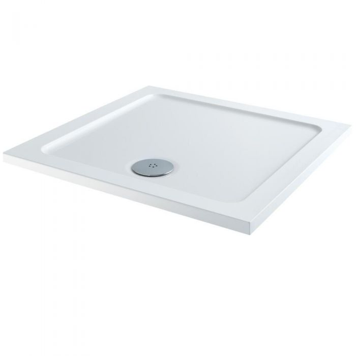 Milano - Low Profile Square Shower Tray - Choice of Sizes
