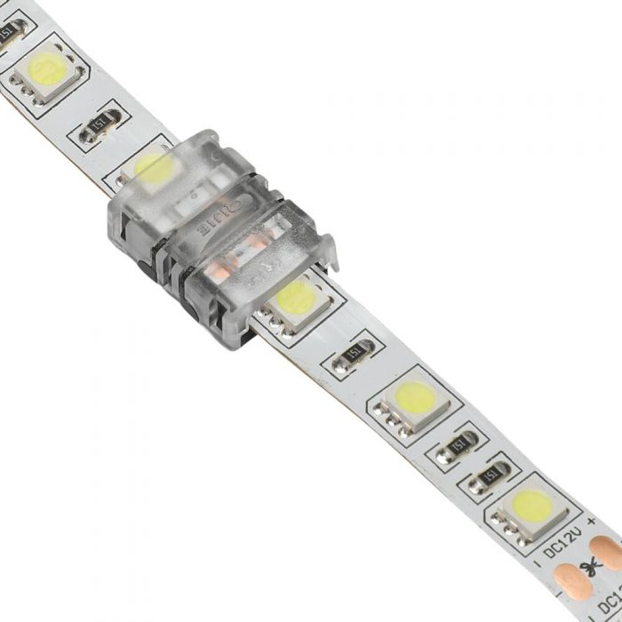 Biard LED Strip Connector For 5050 10mm IP20 Single Colourl - 2pin