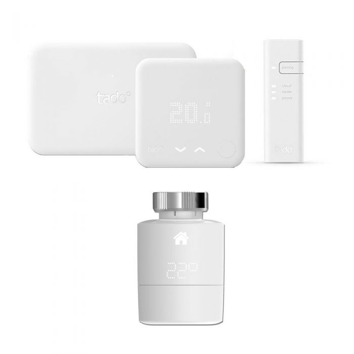 Tado - Smart Thermostat Starter Kit (v3) & Extension Kit With Smart Radiator Valves (Horizontal)
