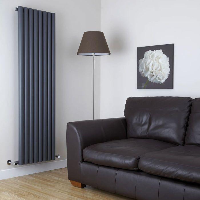 Milano Java - Anthracite Vertical Designer Radiator - 1780mm x 472mm