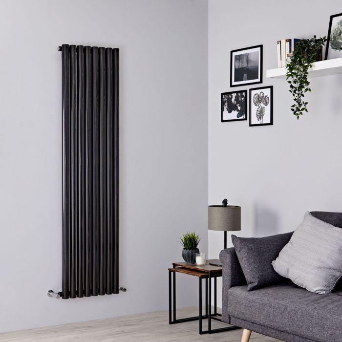 Milano Java - Black Vertical Designer Radiator - 1780mm x 472mm
