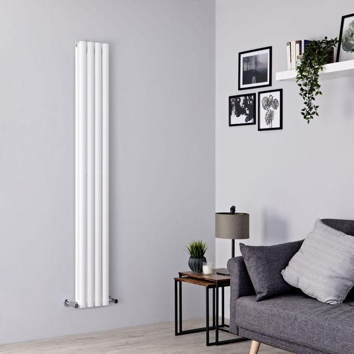 Milano Aruba Slim - White Space-Saving Vertical Designer Radiator - 1780mm x 236mm (Double Panel)