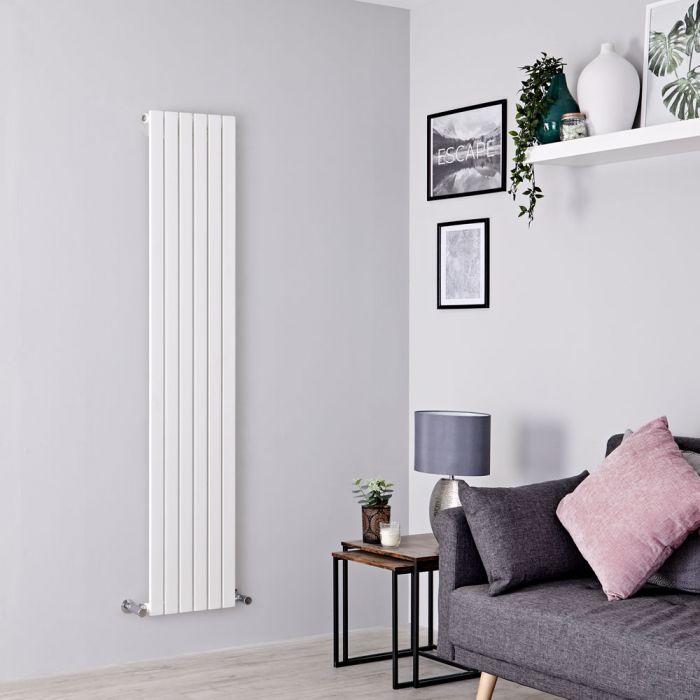 Milano Capri - White Flat Panel Vertical Designer Radiator - 1780mm x 354mm