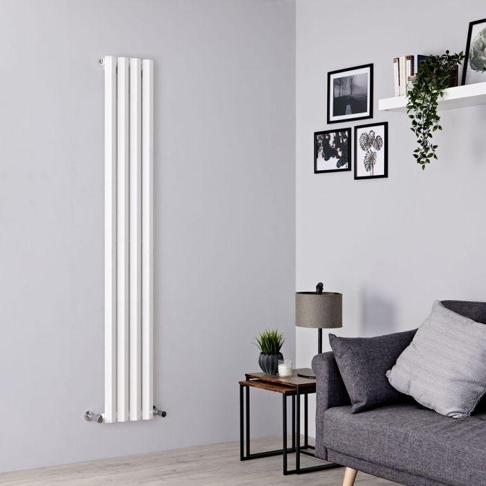 Milano Viti - White Diamond Panel Vertical Designer Radiator - 1780mm x 280mm