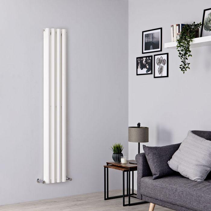Milano Viti - White Diamond Panel Vertical Designer Radiator - 1780mm x 280mm (Double Panel)