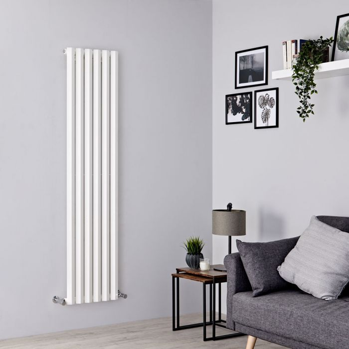 Milano Viti - White Diamond Panel Vertical Designer Radiator - 1780mm x 420mm
